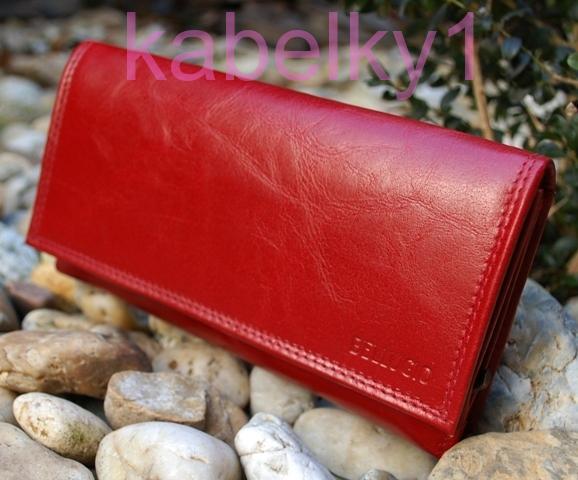 93bf9b291d Dámska peňaženka tmavá červená koža zips BELLUGIO