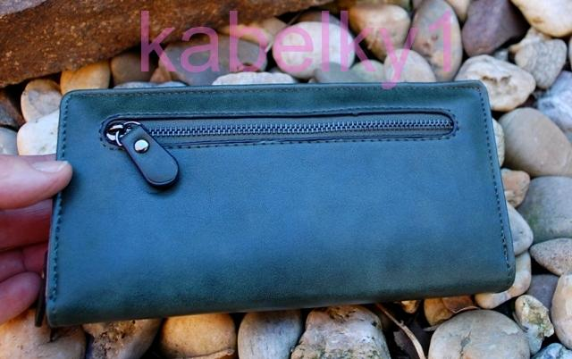 71ab02fe71 Dámska peňaženka zelená ružová ozdobný zips