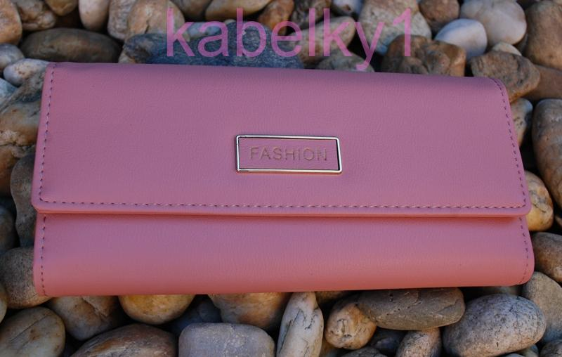 582883591f Dámska peňaženka ružová staroružová tmavá strieborné kovanie
