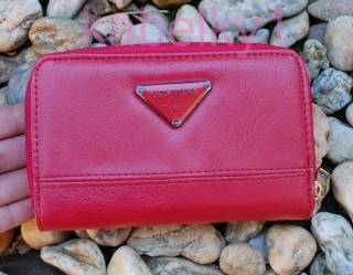 58a245b24c Dámska peňaženka červená zips pracka empty