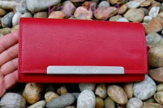 c70ed911d223 Dámska červená kožená peňaženka tmavá jemný lesk empty